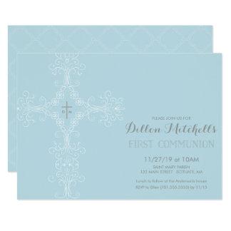 Erste heilige Kommunions-Einladung - Kreuz, 12,7 X 17,8 Cm Einladungskarte
