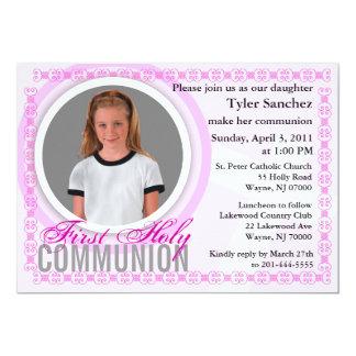 Erste heilige Kommunions-Einladungs-klassisches 12,7 X 17,8 Cm Einladungskarte