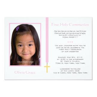 Erste Kommunion - Mädchen 12,7 X 17,8 Cm Einladungskarte