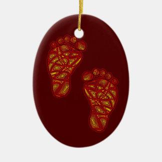 Erste Verzierung des Babys Weihnachts Keramik Ornament