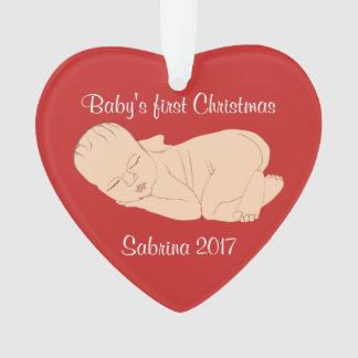 Erste Verzierung des Babys Weihnachts Ornament