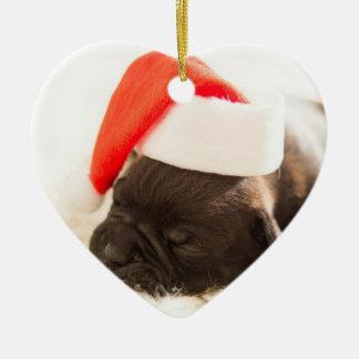 Erste Verzierung des Haustieres Weihnachts Keramik Herz-Ornament