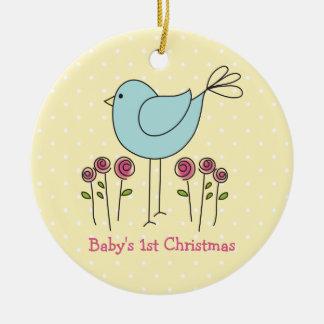 Erste Verzierung des niedlichen Vogel-Babys Rundes Keramik Ornament