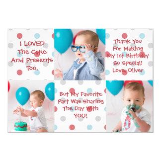 Erster Geburtstag danken Ihnen zu kardieren 12,7 X 17,8 Cm Einladungskarte