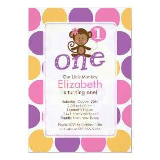Erster Geburtstags-kleine 12,7 X 17,8 Cm Einladungskarte