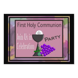 Erster heilige Kommunions-Einladungenchalice-Wirt 12,7 X 17,8 Cm Einladungskarte