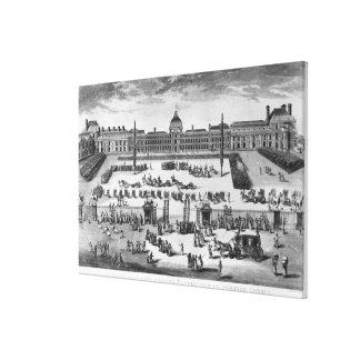 Erster Konsul Napoleon Bonaparte, ReviewingTroops Leinwand Drucke