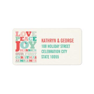 Erster Weihnachtsherr und Frau Holiday Foto Adressetiketten