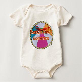 Erstes der Sommer-Shirt des Babys Baby Strampler