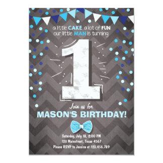 Erstes Geburtstags-Einladungsjunge einer 12,7 X 17,8 Cm Einladungskarte