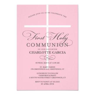 Erstes heilige Kommunions-Einladungs-Blau 12,7 X 17,8 Cm Einladungskarte