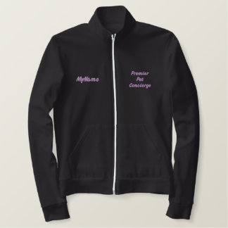 Erstes Pet Concierge Purple Custom Bestickte Jacke