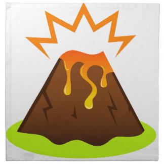 Eruptionslava Kinderraumentwurf Serviette