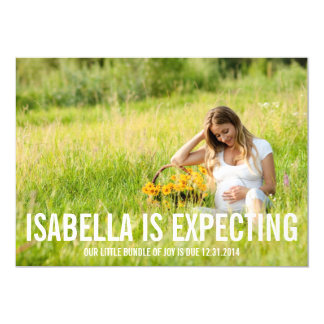 Erwartung von   Schwangerschafts-Mitteilung 12,7 X 17,8 Cm Einladungskarte