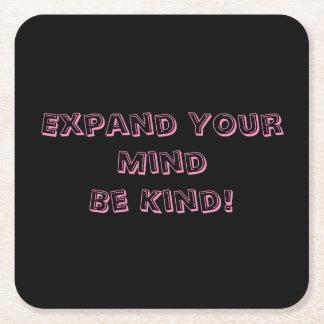 Erweitern Sie Ihren Verstand ist netter Rechteckiger Pappuntersetzer