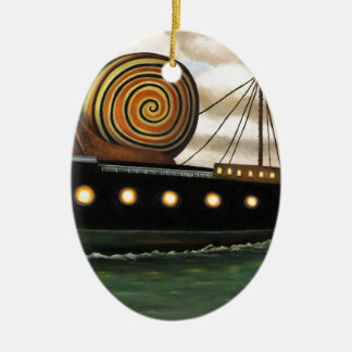 Es-Fracht Ovales Keramik Ornament