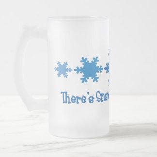 Es gibt Schnee-Lehrer wie Sie Mattglas Bierglas