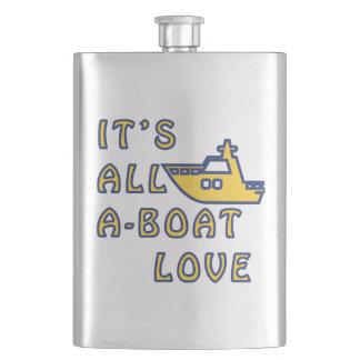 Es ist alle Ein-Boot Liebe Flachmann