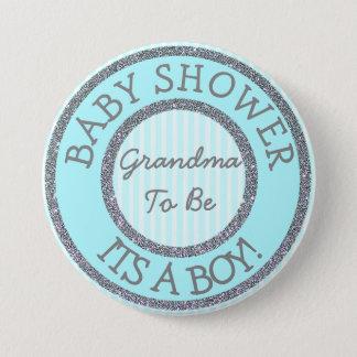 Es ist ein Junge, die Großmutter, zum Runder Button 7,6 Cm