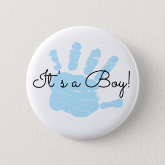 Es ist ein Junge, neuer Runder Button 5,1 Cm
