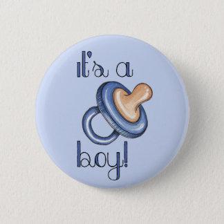 Es ist ein Junge! Runder Button 5,1 Cm