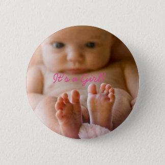 Es ist ein Mädchen-Knopf mit niedlichem Baby Runder Button 5,7 Cm