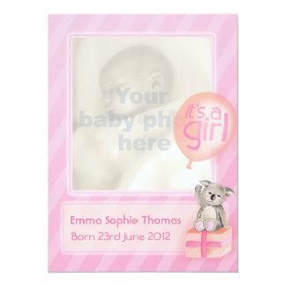 Es ist eine Baby-Mitteilungskarte des 14 X 19,5 Cm Einladungskarte