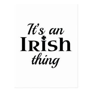 Es ist eine irische Sache Postkarte