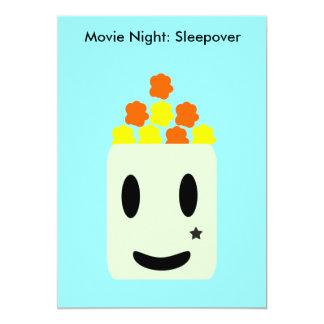 Es ist Film-Nacht die ganze Nacht: Sleepover Karte