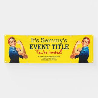 Es ist Ihre personalisierte Rosie Feier-Versorgung Banner