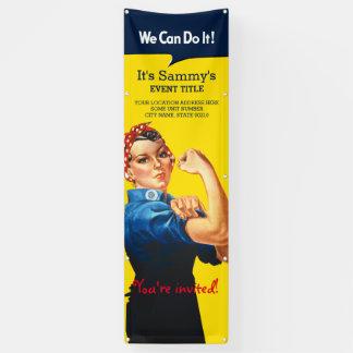 Es ist Ihre personalisierte Rosie Feier-Vertikale Banner
