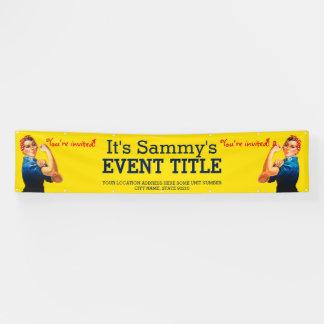 Es ist Ihre personalisierte Rosie Party-Werbung Banner