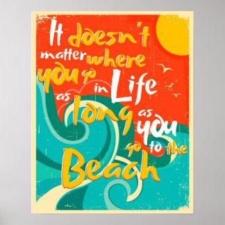 Es ist nicht von Bedeutung, wo Sie in das Leben Poster