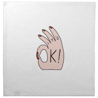 Es ist OKAY! Shirts, Zusätze, Geschenke Stoffserviette