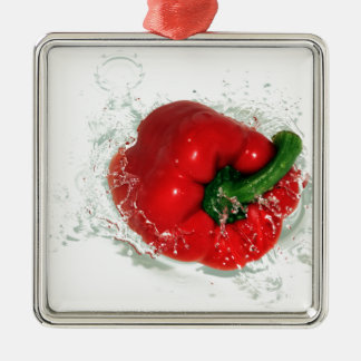 es ist spanischer Pfeffer… Silbernes Ornament