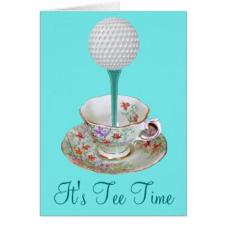 Es ist T-Stück Zeit-Golf-Mitteilungskarten, Karte