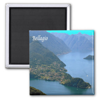 ES - Italien - Bellagio Quadratischer Magnet