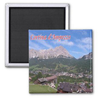 ES - Italien - Cortina d'Ampezzo Quadratischer Magnet