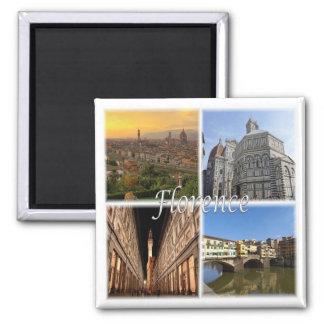 ES * Italien - Florenz Italien Quadratischer Magnet