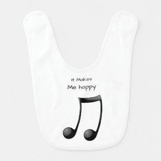 Es macht mich Glücklich-Musik Lätzchen