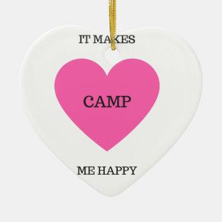 Es macht mich glückliches Lager Keramik Herz-Ornament