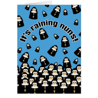Es regnet Nonnen Grußkarte