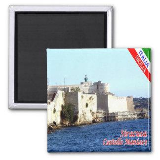 ES - Sizilien - Siracusa - Schloss Maniace Quadratischer Magnet