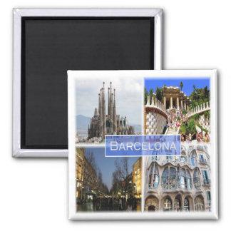 ES * Spanien - Barcelona Quadratischer Magnet