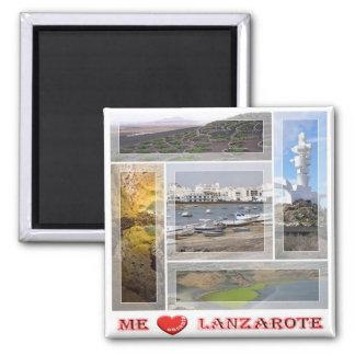 ES - Spanien - Lanzarote - i-Liebe - Quadratischer Magnet