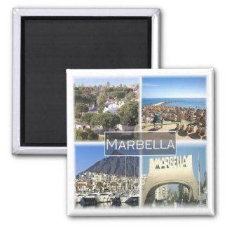 ES * Spanien - Marbella Quadratischer Magnet