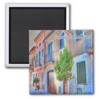 ES - Spanien - Palma de Mallorca - alte Stadt Quadratischer Magnet