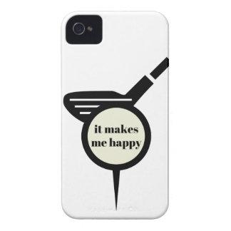 Es stellt mich Glücklich-Golf Tasse her iPhone 4 Hüllen