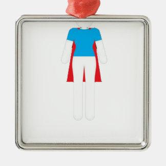 Es war nie ein Kleid - Wunder-Supermädchen-Frau Silbernes Ornament