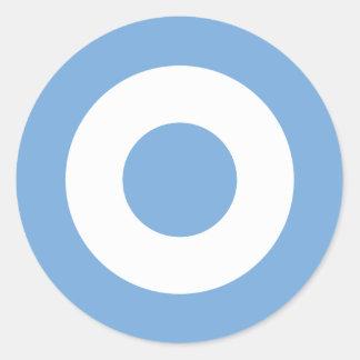 Escarapela Argentinien - Roundel von Argentinien Runder Aufkleber